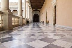 Κατώφλι, εσωτερικό παλάτι, Alcazar de Τολέδο, Ισπανία Στοκ Εικόνες