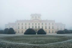 Κατώφλι κάστρων Esterhazy στην ομίχλη Στοκ Φωτογραφία