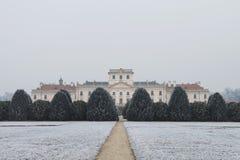 Κατώφλι κάστρων Esterhazy το χειμώνα, Fertod Στοκ Φωτογραφία
