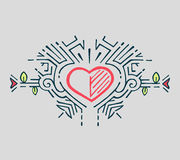 Κατ'ευθείαν γραμμή καρδιά Στοκ φωτογραφία με δικαίωμα ελεύθερης χρήσης