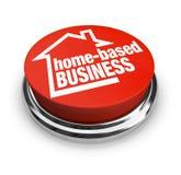 Κατ' οίκον βασισμένο επιχειρησιακό κουμπί μόνο - απασχολημένος επιχειρηματίας διανυσματική απεικόνιση