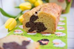 Κατ' οίκον γίνοντα κέικ λαγουδάκι Πάσχας στοκ εικόνες με δικαίωμα ελεύθερης χρήσης