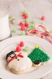 Κατ' οίκον γίνοντα μπισκότα και gumdrops Χριστουγέννων Στοκ εικόνα με δικαίωμα ελεύθερης χρήσης