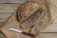 Κατ' οίκον γίνοντα ψωμί τοπ άποψη Στοκ εικόνα με δικαίωμα ελεύθερης χρήσης