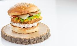 Κατ' οίκον γίνοντα burger στοκ φωτογραφία