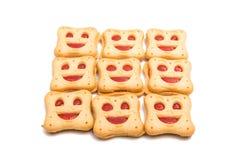Κατ' οίκον γίνοντα smiley μπισκότων που απομονώνεται Στοκ εικόνες με δικαίωμα ελεύθερης χρήσης