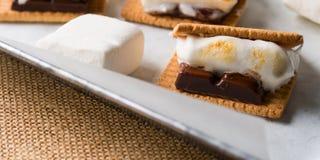 Κατ' οίκον γίνοντα smore marshmallow μεταχειρίζεται για τα παιδιά απαγορευμένα στοκ φωτογραφία με δικαίωμα ελεύθερης χρήσης