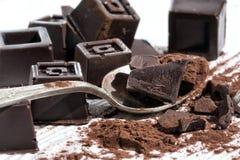 Κατ' οίκον γίνοντη σκοτεινή σοκολάτα Στοκ φωτογραφία με δικαίωμα ελεύθερης χρήσης