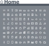 Κατ' οίκον σχετικό σύνολο εικονιδίων απεικόνιση αποθεμάτων