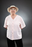 Καυκάσια ανώτερη γυναίκα Στοκ Φωτογραφίες