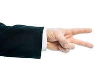 Καυκάσια αρσενική σύνθεση χεριών που απομονώνεται Στοκ εικόνες με δικαίωμα ελεύθερης χρήσης