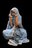 Καυκάσια γυναίκα στη μαλαισιανή Sari Στοκ εικόνες με δικαίωμα ελεύθερης χρήσης