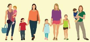 Καυκάσιες μητέρες Στοκ Εικόνα