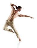 Καυκάσιος αρσενικός χορευτής στοκ εικόνες