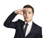 Καυκάσιος επιχειρηματίας που κοιτάζει μακριά Στοκ εικόνα με δικαίωμα ελεύθερης χρήσης