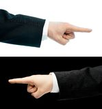 Καυκάσιος παραδώστε ένα επιχειρησιακό κοστούμι που απομονώνεται Στοκ εικόνες με δικαίωμα ελεύθερης χρήσης