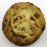 Καυκάσιο unleavened άσπρο ψωμί που γίνεται από το αλεύρι σίτου - ψωμί pita στοκ φωτογραφία