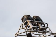 Καυστήρας αερίου για να θερμάνει επάνω και το πετώντας μπαλόνι αέρα στοκ φωτογραφίες με δικαίωμα ελεύθερης χρήσης