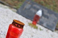 Καυστήρας και κερί στον τάφο Στοκ Εικόνα