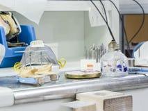 Καυστήρας πνευμάτων οινοπνεύματος σε ένα οδοντικό εργαστήριο Στοκ φωτογραφία με δικαίωμα ελεύθερης χρήσης