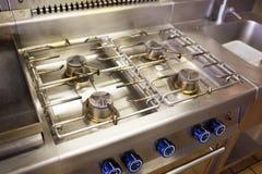 Καυστήρας σομπών αερίου κουζινών Στοκ Φωτογραφίες