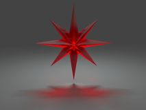 καυστική επίδραση οκτώ δειγμένο αστέρι Στοκ Εικόνα