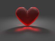 καυστικό μυστήριο κόκκινο καρδιών επίδρασης Στοκ Φωτογραφίες