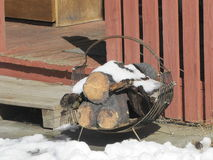Καυσόξυλο έτοιμο να καψει Στοκ φωτογραφία με δικαίωμα ελεύθερης χρήσης