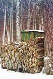 Καυσόξυλο πεύκων Στοκ Εικόνες