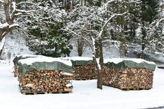 Καυσόξυλο, χειμερινή θέρμανση στοκ φωτογραφία με δικαίωμα ελεύθερης χρήσης