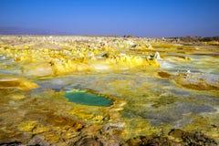 Καυτά ελατήρια σε Dallol, έρημος Danakil, Αιθιοπία Στοκ εικόνα με δικαίωμα ελεύθερης χρήσης
