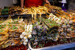 Καυτά και πικάντικα οβελίδια Στοκ φωτογραφίες με δικαίωμα ελεύθερης χρήσης