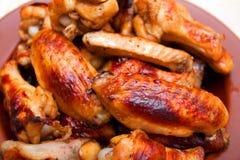 Καυτά και πικάντικα φτερά κοτόπουλου ύφους βούβαλων Στοκ φωτογραφία με δικαίωμα ελεύθερης χρήσης