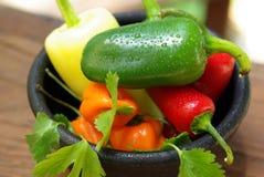 καυτά πιπέρια μιγμάτων της Χ&io Στοκ φωτογραφία με δικαίωμα ελεύθερης χρήσης