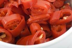 καυτά πιπέρια Στοκ Εικόνες