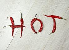 Καυτά πιπέρια Στοκ φωτογραφία με δικαίωμα ελεύθερης χρήσης