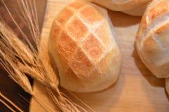 Καυτά τρόφιμα αρτοποιείων ψωμιού καφετιά Στοκ Φωτογραφία