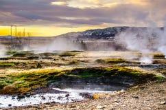 Καυτά geysers στην Ισλανδία Στοκ Φωτογραφία