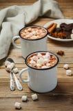 καυτά marshmallows σοκολάτας Στοκ Φωτογραφία