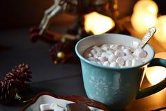 καυτά marshmallows σοκολάτας Στοκ Εικόνα