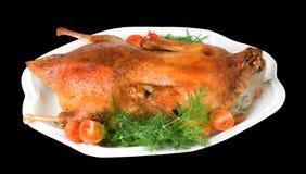 καυτά roast παπιών Χριστούγενν&alph Στοκ εικόνα με δικαίωμα ελεύθερης χρήσης