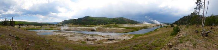 Καυτές λίμνες στο εθνικό πάρκο Yellowstone Στοκ φωτογραφία με δικαίωμα ελεύθερης χρήσης