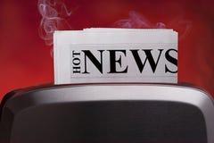 καυτές ειδήσεις Στοκ εικόνα με δικαίωμα ελεύθερης χρήσης