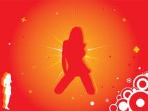 καυτές κόκκινες γυναίκ&epsilo απεικόνιση αποθεμάτων