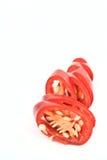 καυτές κόκκινες φέτες πι&pi στοκ εικόνες