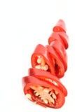 καυτές κόκκινες φέτες πι&pi στοκ φωτογραφία