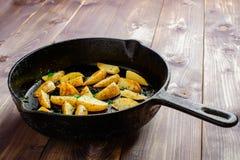 Καυτές τηγανισμένες πατάτες Στοκ φωτογραφίες με δικαίωμα ελεύθερης χρήσης