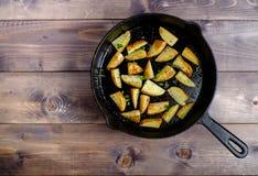 Καυτές τηγανισμένες πατάτες Στοκ εικόνα με δικαίωμα ελεύθερης χρήσης