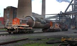 Καυτές υγρές κουτάλες μεταφορών σιδήρου τορπιλών Στοκ φωτογραφίες με δικαίωμα ελεύθερης χρήσης