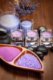 καυτές lavender πέτρες μεταλλε Στοκ φωτογραφία με δικαίωμα ελεύθερης χρήσης